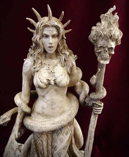 Hecate Statue Figurine - Pagan Wiccan Decor #wiccandecor
