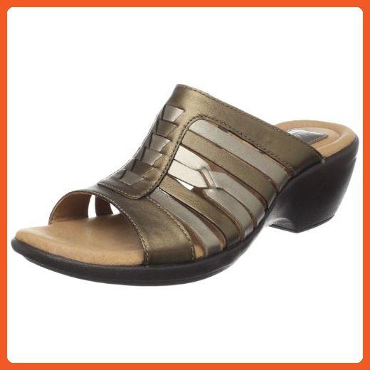 Clarks Women's 5 Ribbon bronze Metallic Slide 9 W Us Trophy Sandal 6gfyYb7