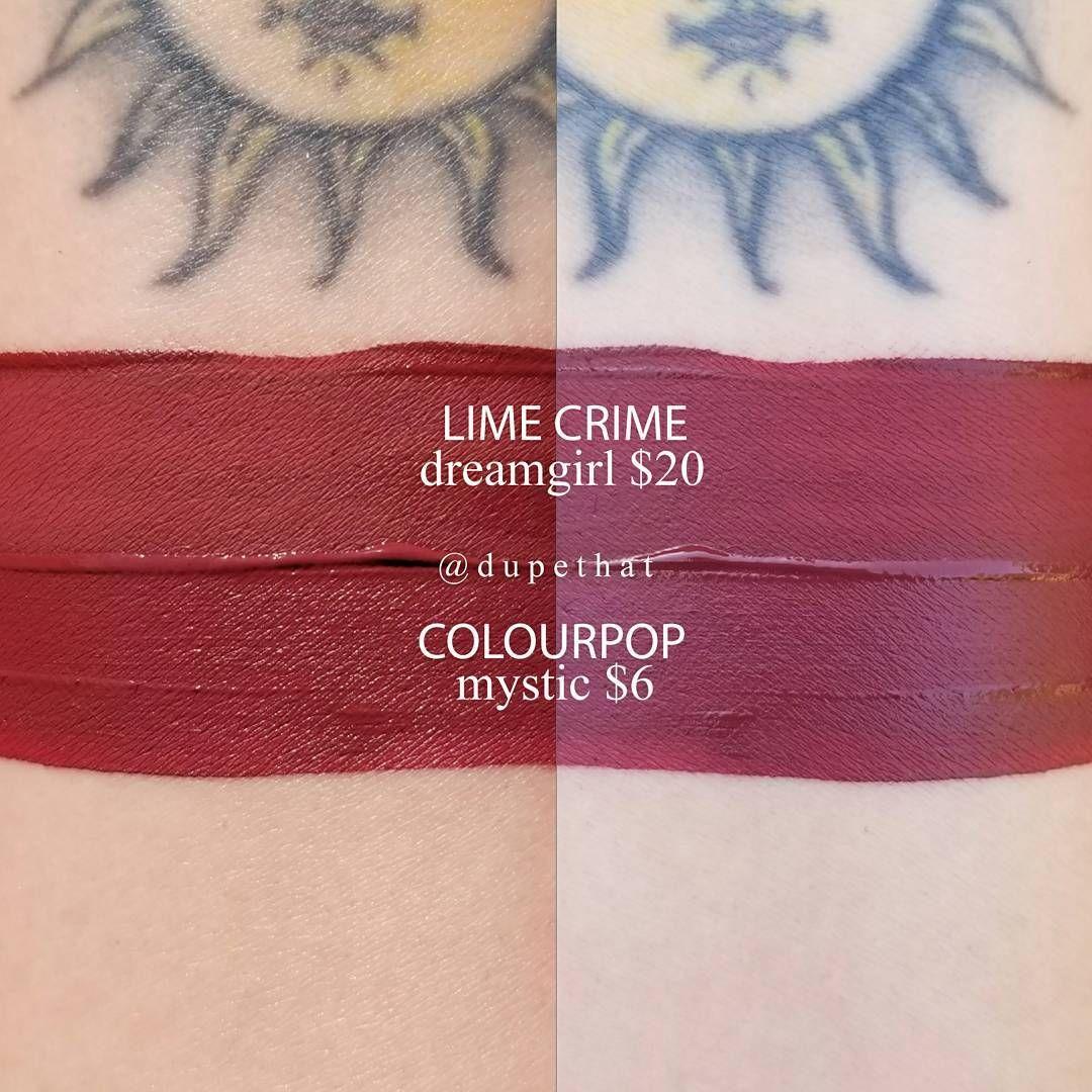 Lime Crime Dreamgirl Colourpop Mystic Lipstick Dupe Lipstick