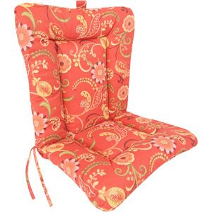 Jordan Manufacturing Outdoor Patio Wrought Iron Chair Cushion Different Designs Floral Dina Lounger Multiple Patterns
