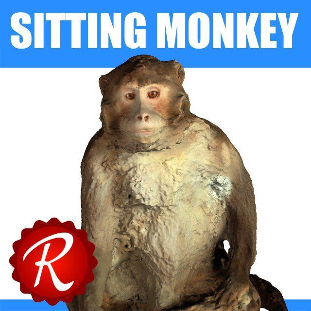 3D Model Monkey c4d, obj, 3ds, fbx, ma, lwo 71089   3D
