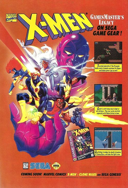 X Men Game Gear Retro Games Poster Retro Video Games Classic Video Games