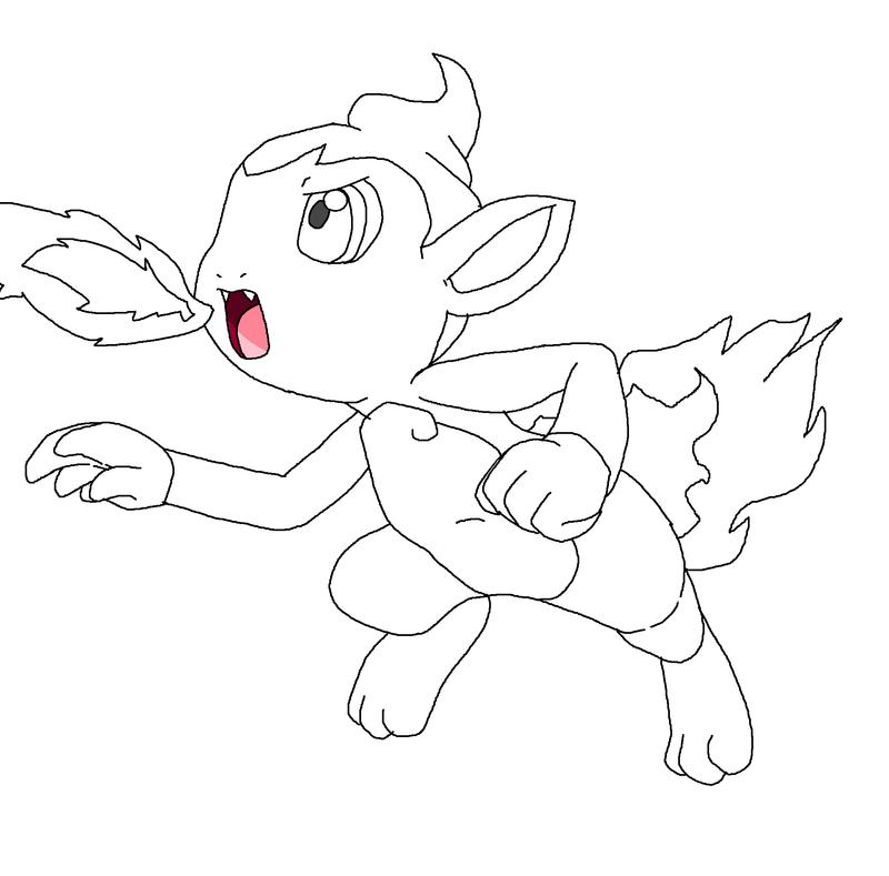 Chimchar Base By Midnightflaze Pokemon Coloring Pages Pokemon Coloring Pokemon