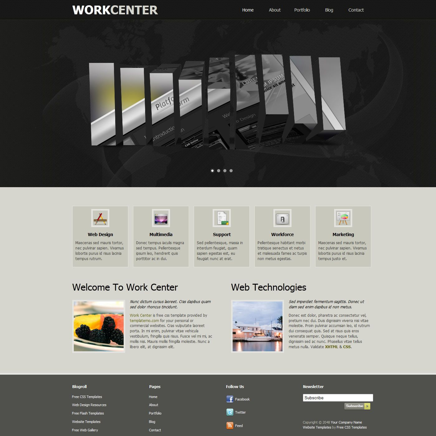 Work Center is a professionally designed website template for anyone ...