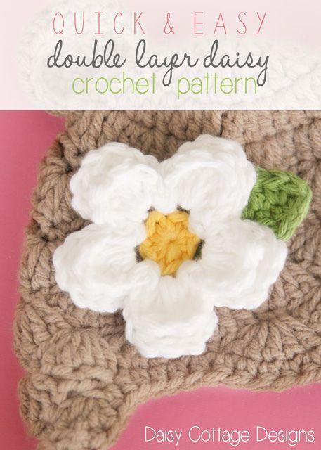 Free #crochet flower pattern from Daisy Cottage Designs | crochet ...