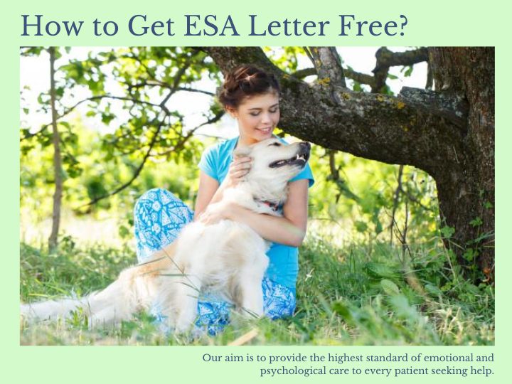 How To Get Esa Letter Free Emotional Support Animal Esa Letter Emotional Support