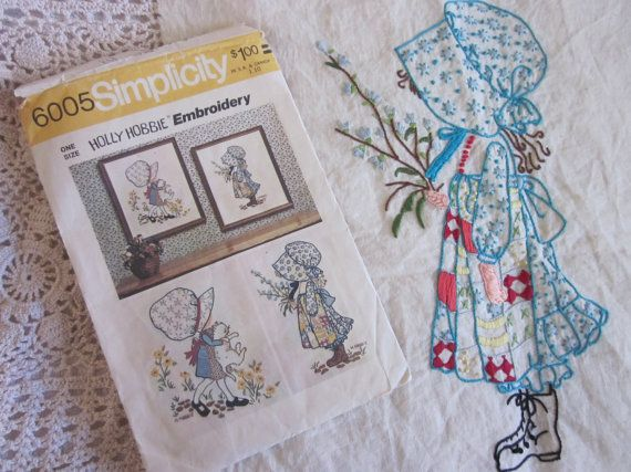 Holly Hobbie Embroidery/PatternVintage Holly by QuaintConfections, $15.00
