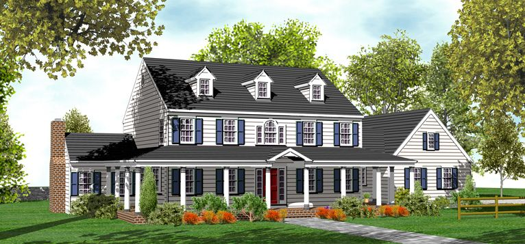 2 Story Colonial House Plans for Sale Original Home
