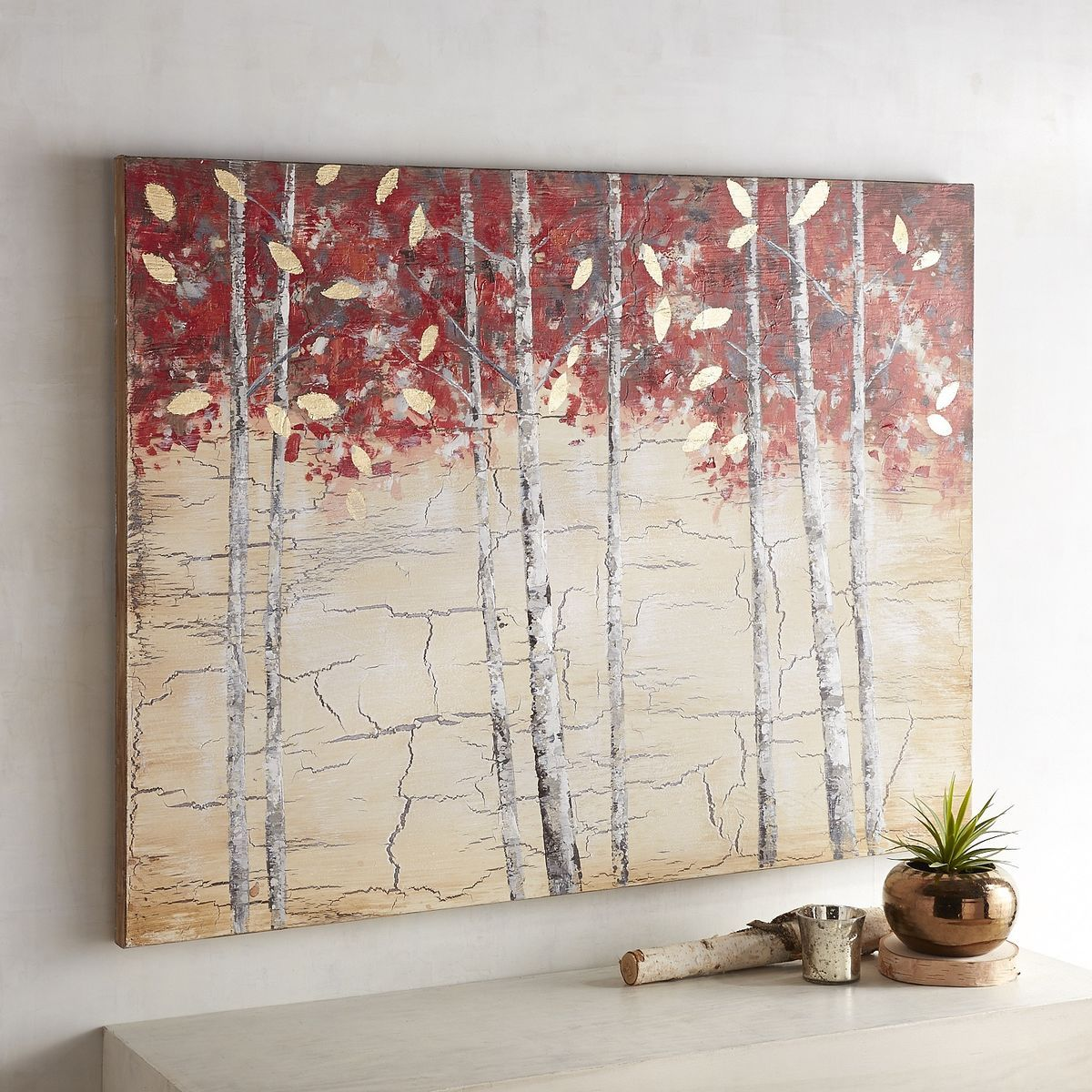 Tall Red Birch Tree Art Pier 1 Imports Tree Wall Painting Wall Art Canvas Painting Birch Tree Art