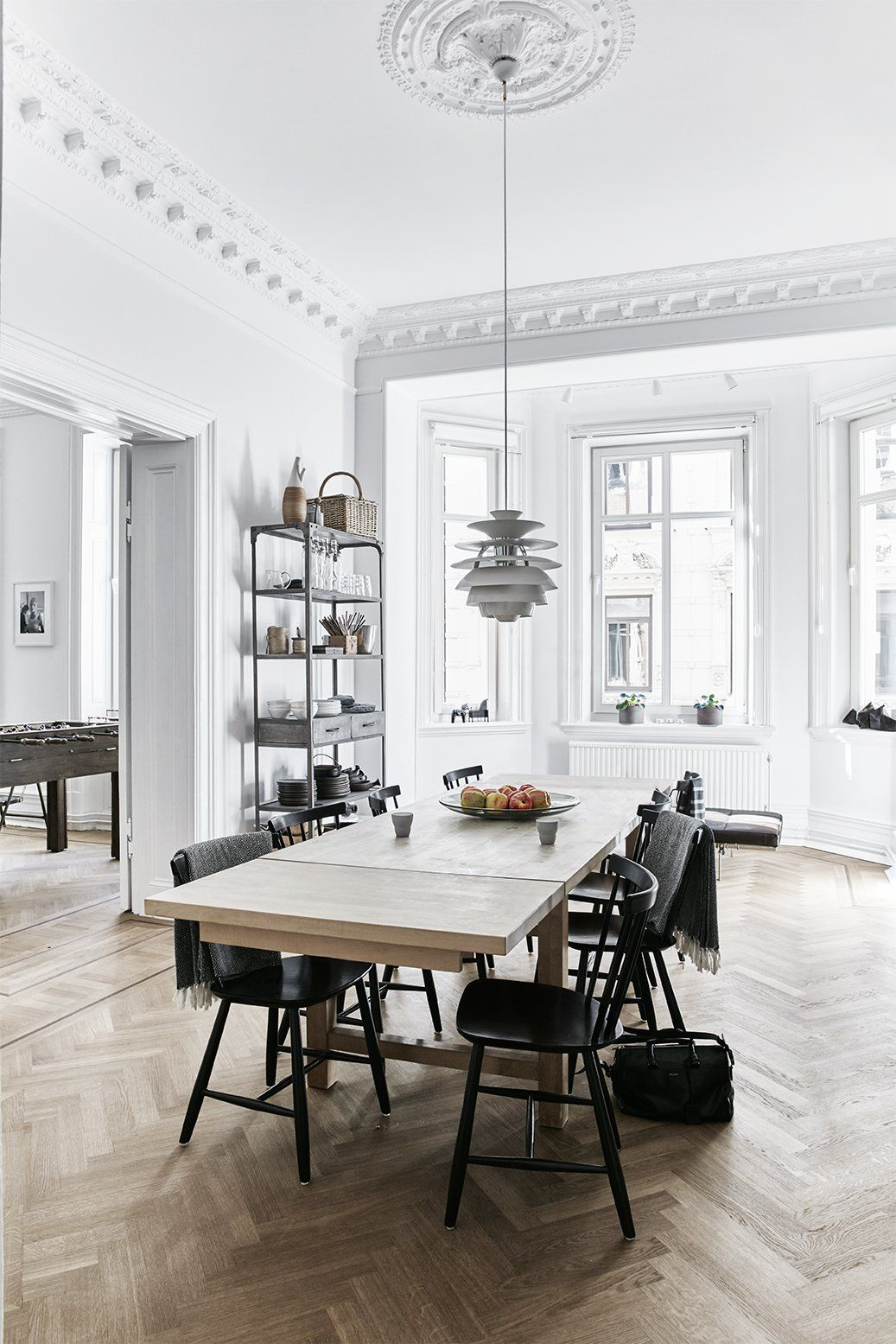A careful renovation of a 19th century flat in gothenburg brings it back to life · modern interiorsscandinavian