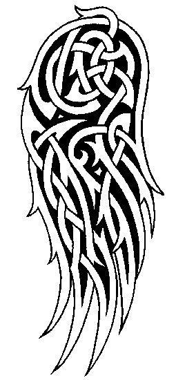 Celtic Angel Wings Tats Wing Tattoo Designs Tattoo Drawings