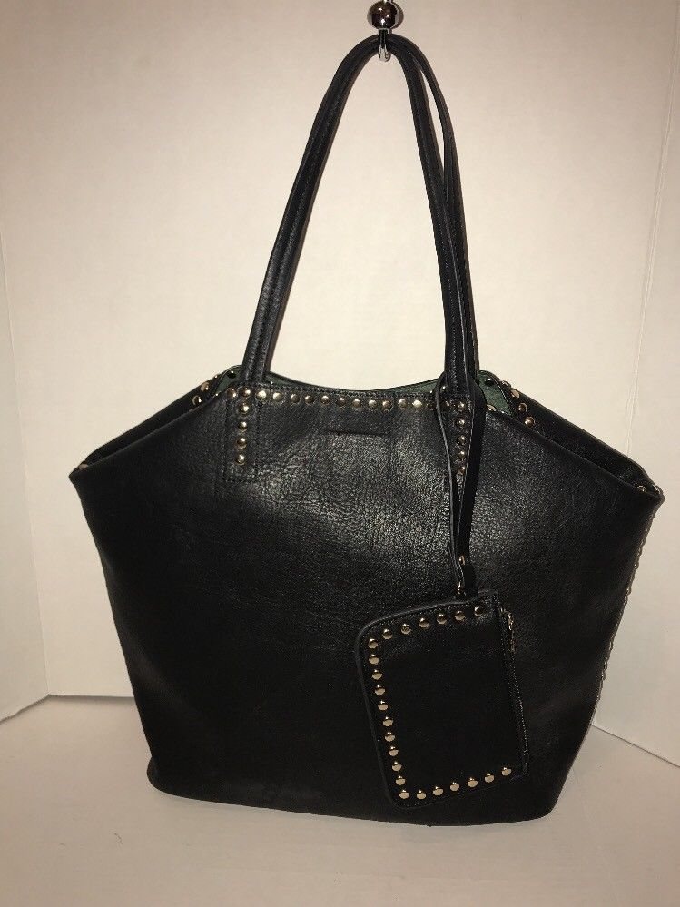 Unbranded Women S Faux Leather Black Tote Extra Large Xl Ebay