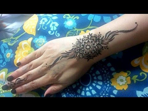Henna Tattoo Tutorial : Flower on wrist henna tattoo tutorial hennas