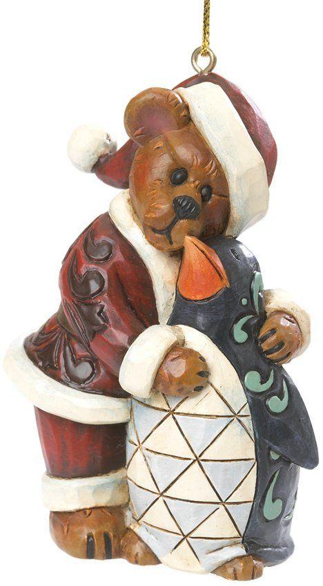 Boyds Bears by Jim Shore 4035834 Santa Bear with Penguin ...