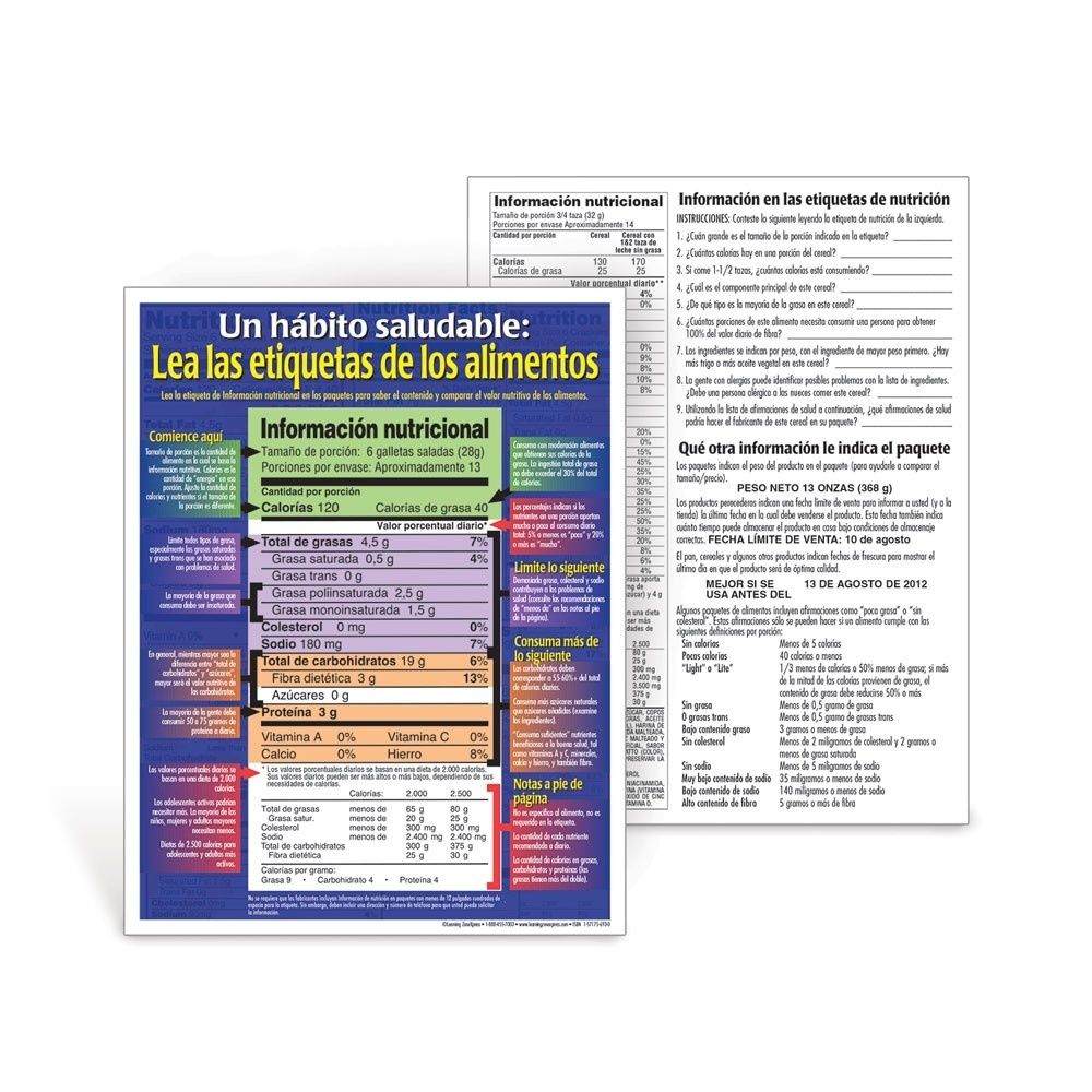 Nutrition Facts Food Labels Read Food Labels Spanish Handouts For Reading Food Labels Handout22573 Reading Food Labels Spanish Handouts Nutrition Facts Label