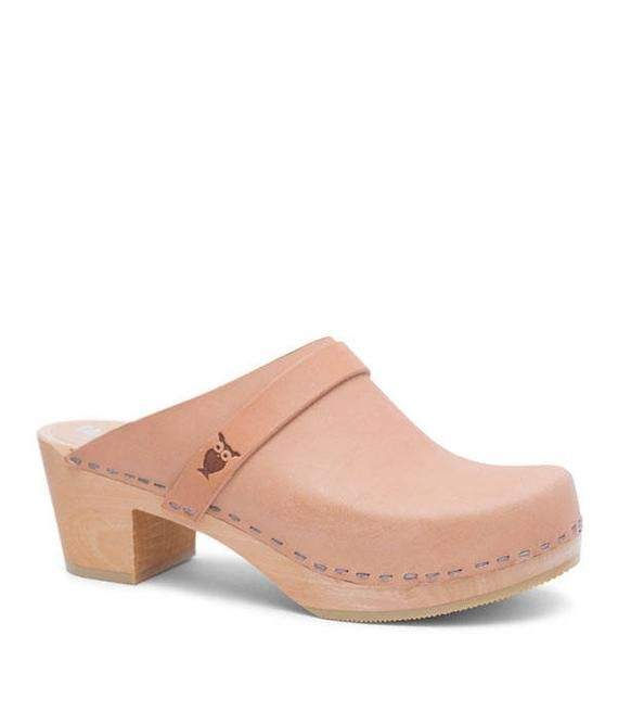 aa39888c6f26d Swedish Handmade Wooden Clog Mules For Women | Comfortable Mid High ...
