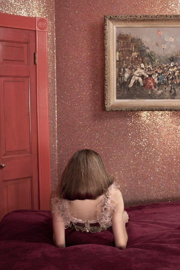 hotelzimmer Wandgestaltung mit Farbe wand streichen ideen glitzern ...