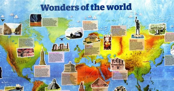 Various lists of the Wonders of the World have been compiled from ...