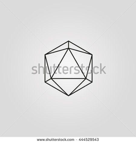 geometry minimal logo concept, hexagon vector logo template ...