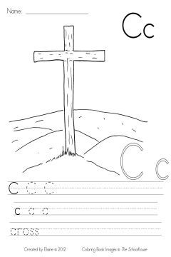 C Is For Cross  Hand Drawn Religion And Sunday School