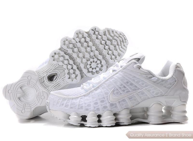 white Womens Nike Shox TL1