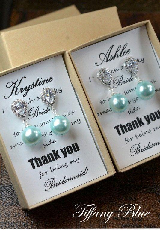 Tiffany blue aqua mint greenWedding Jewelry Bridesmaid Gift