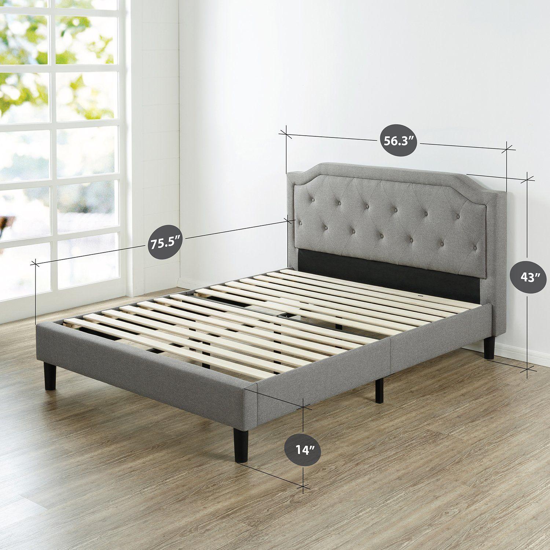 23 Cool Upholstered Scalloped Platform Bed Frame In Bedroom For