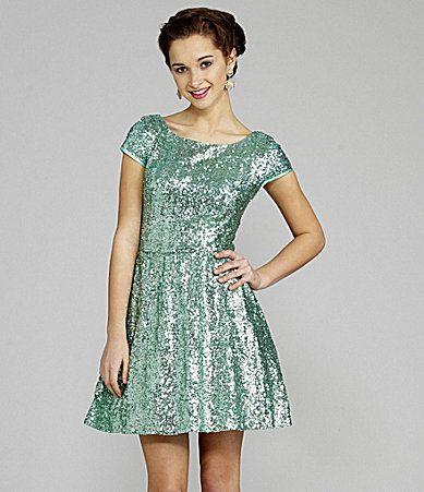 B Darlin CapSleeve Sequin Skater Dress(I got this dress for 8th ...