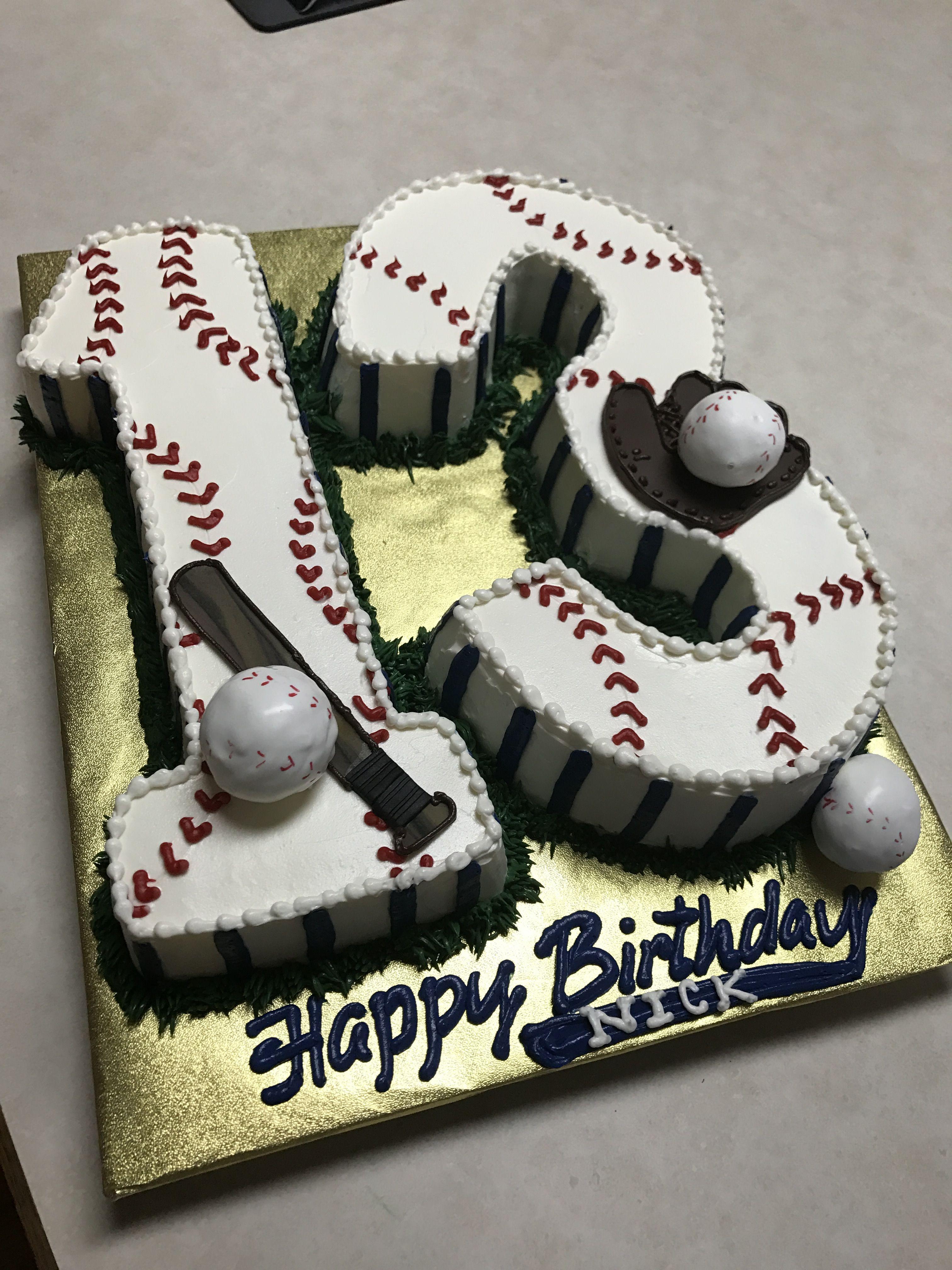 Astonishing Baseball Number Cake With Baseball Cake Pops Baseball Birthday Birthday Cards Printable Inklcafe Filternl