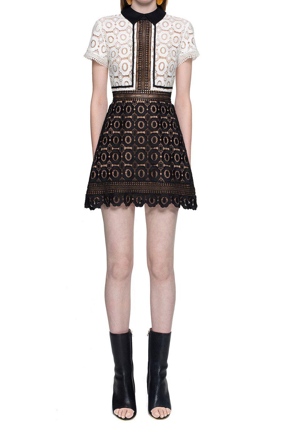 267ea620d38a $262.80 Self Portrait Felicia Lace Mix Dress | Clothes | Self ...