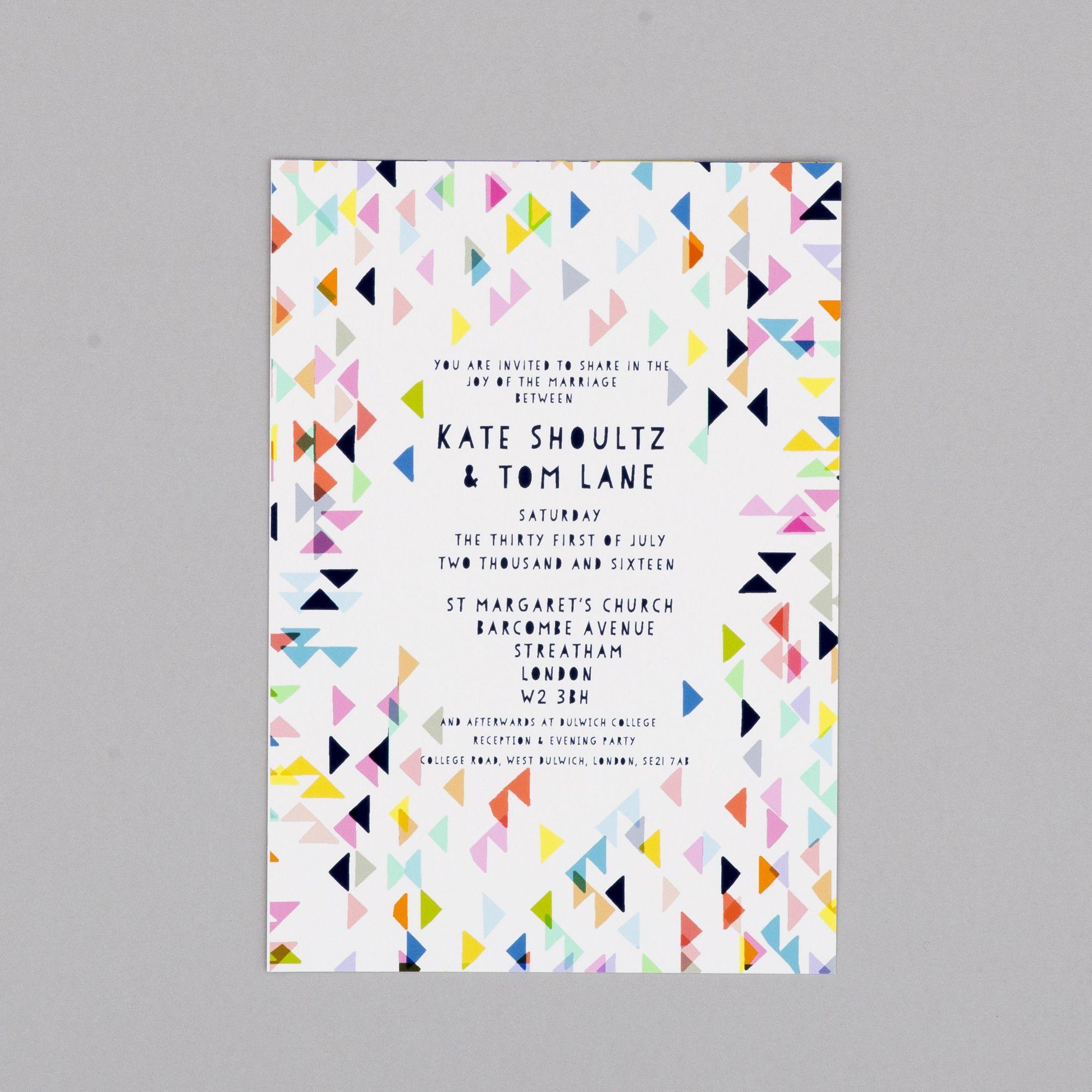 Modern Geometric Day Wedding Invitations By Kitty McCall | Geometric ...