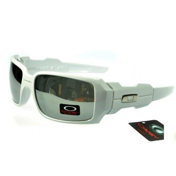 $13.99 Cheap Oakley Oil Rig Sunglasses Metal Grey Lens White Frames Us  Outlet Deal www.