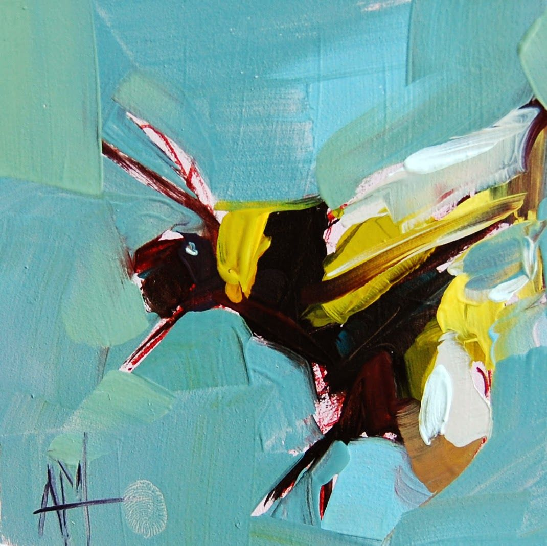 Bumblebee no. 4 Painting - angela moultons painting a day