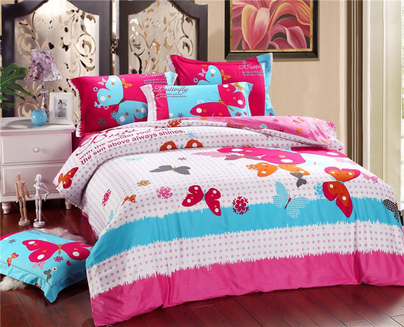 Bedspreads Pictures And Price Butterfly Free Shipping New Pink Spring Dream Song Butterfly Cotton Bedding Set Bed Cotton Bedding Sets Bed Sheets