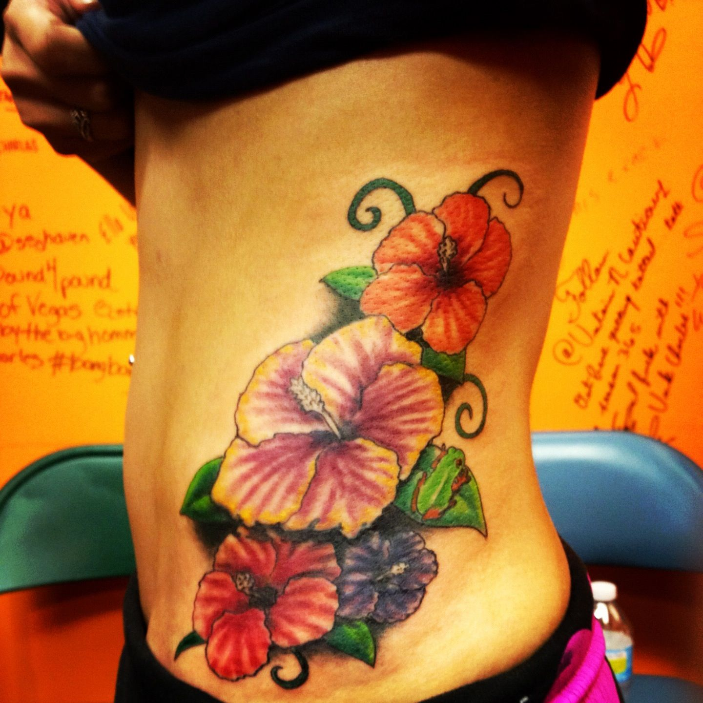 Taino Tattoo For Woman: Flor De Maga, The National Flower Of Puerto Rico. There's