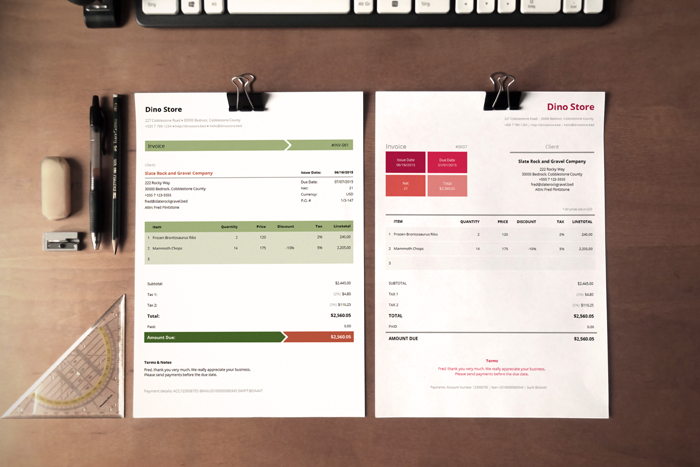 CreativeInvoiceTemplates Business Documents Pinterest - Invoice design template