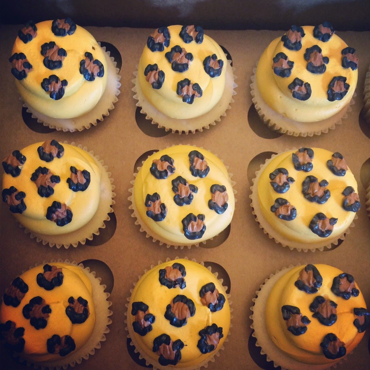 Leopard print cupcakesSweet Libby Cupcakes and Cookies Birthday