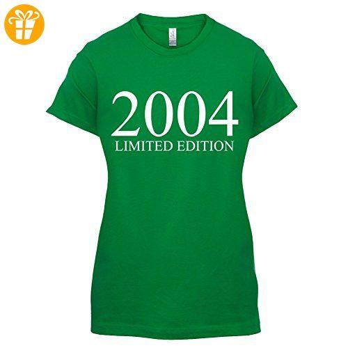 2004 Limierte Auflage / Limited Edition - 13. Geburtstag - Damen T-Shirt - Grün - M (*Partner-Link)