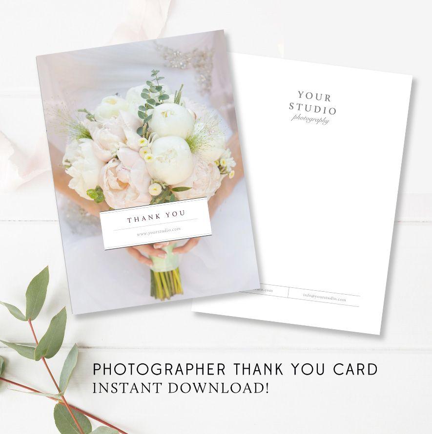 Photographer Thank You Card Template By Stephanie Design
