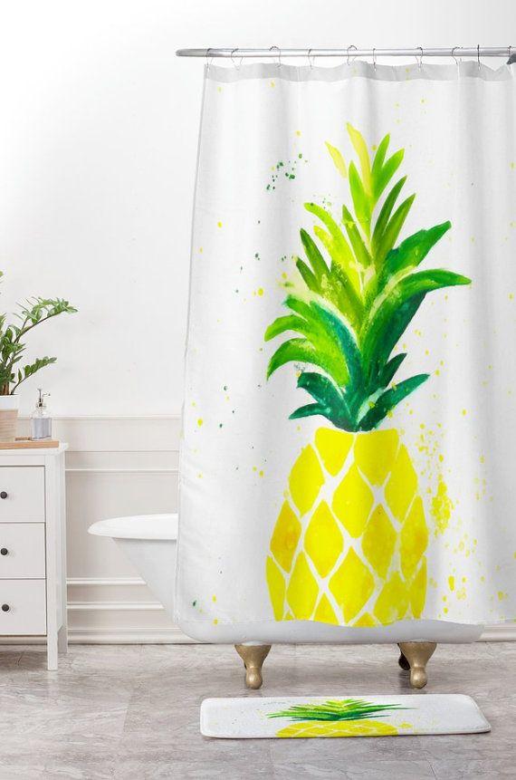 Pineapple Sunshine Shower Curtain Pineapple Shower Curtain