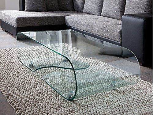 Design Glastisch u2013 Couchtisch auf Rollen, modernes Glasdesign - moderne wohnzimmertische