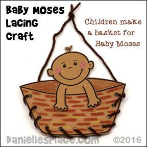 Moses in a Basket Bible Craft for Sunday school and Children's
