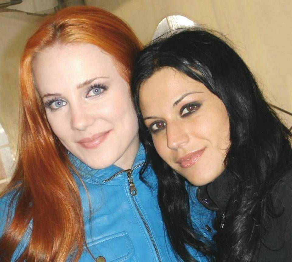 (left) Simone Simmons / Epica, (right) Cristina Scabbia / Lacuna Coil