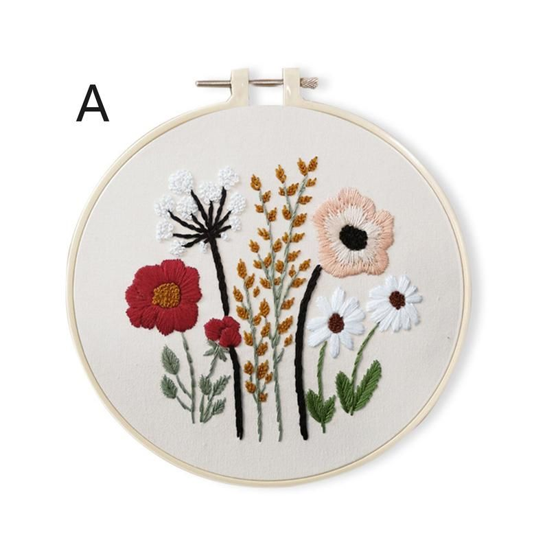 https broderie mutlumk com embroidery kit beginnerchristmas gifts embroidery kitmodern hand embroidery kitflowers embroidery