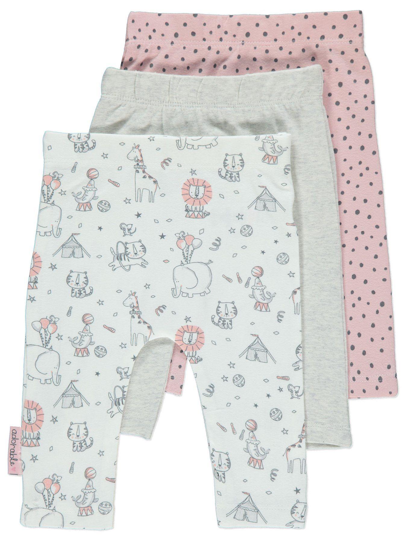 4cf7d5d680 Pink Animal Print Leggings 3 Pack | Baby | George | Circus/carnival ...