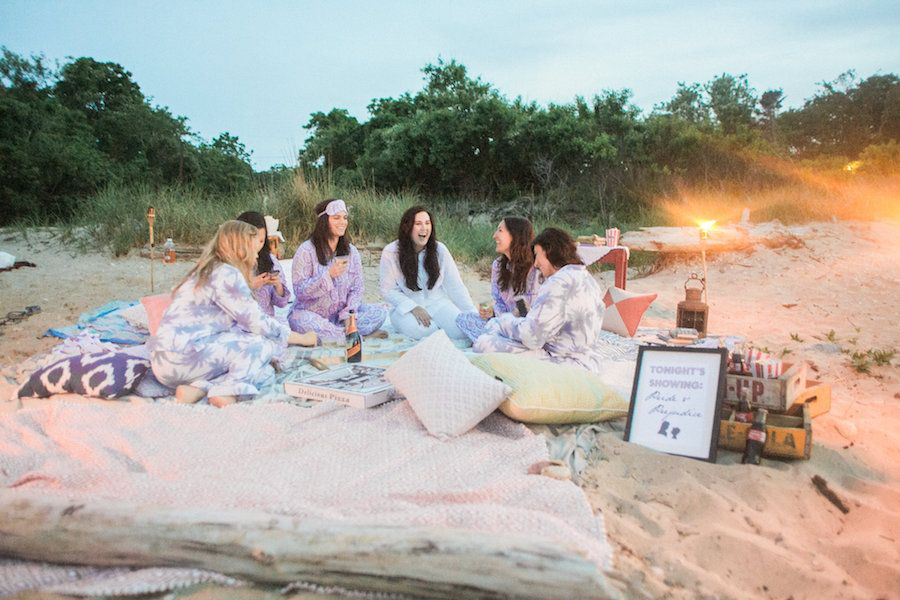 Movie On The Beach Bachelorette Party Inspiration