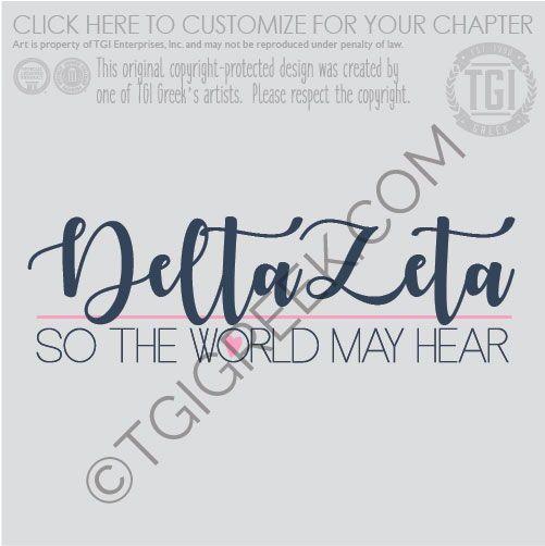 Delta Zeta Sorority tshirt design by TGI Greek! tshirt ...