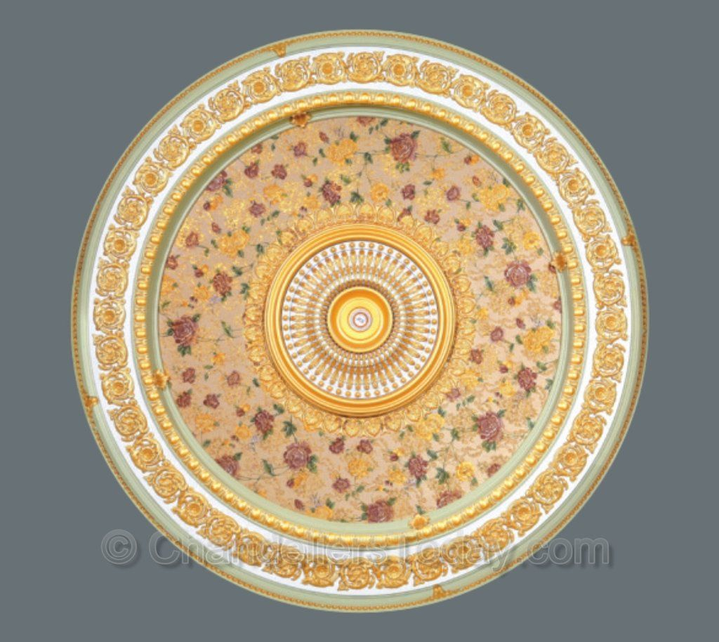 Round Ceiling Medallion #ROUND-2-S-062 | Ceiling medallions ...
