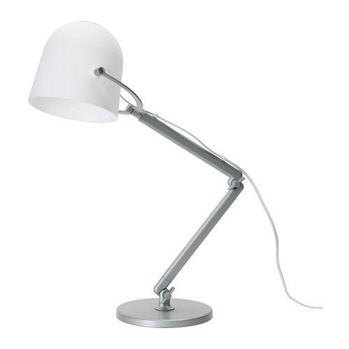IKEA - SVIRVEL, Arbejdslampe, , Du kan nemt pege lyset i den ønskede retning, fordi lampens arm og hoved er indstillelige.Gi'r et koncentreret lys, der er godt at læse ved.