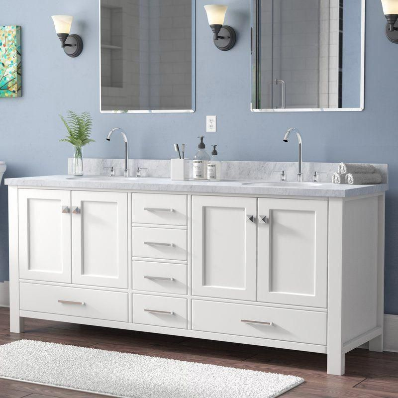 Erithon 73 Double Bathroom Vanity Set Bathroomcabinets Traditional Bathroom Double Vanity Bathroom Bathroom Sink Vanity